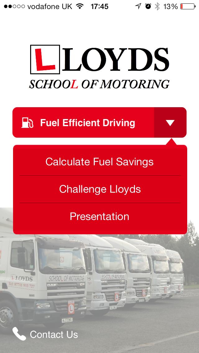 Fuel Efficient Driving App Screenshot